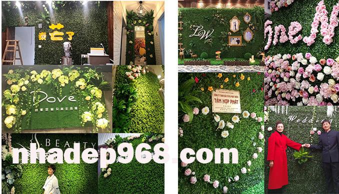 tường cây giả giá rẻ hà nội
