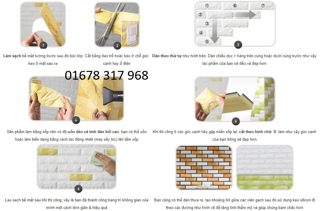 Cách dán xốp vào tường