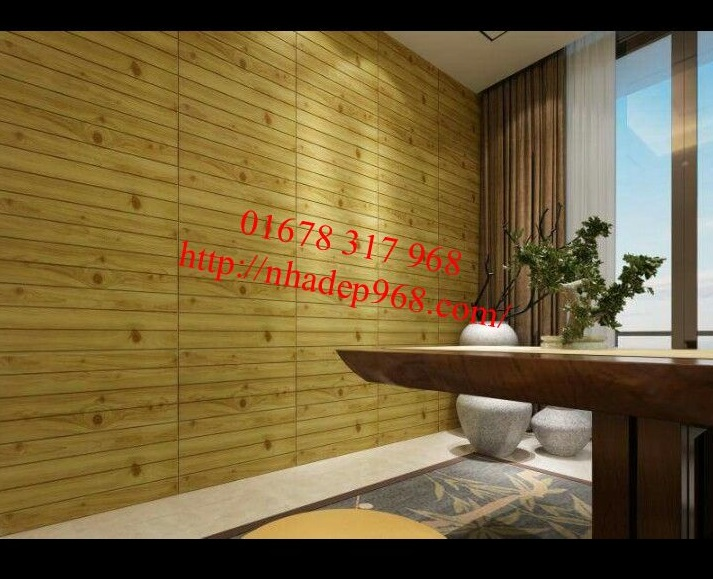 Xốp dán tường giả gỗ long an