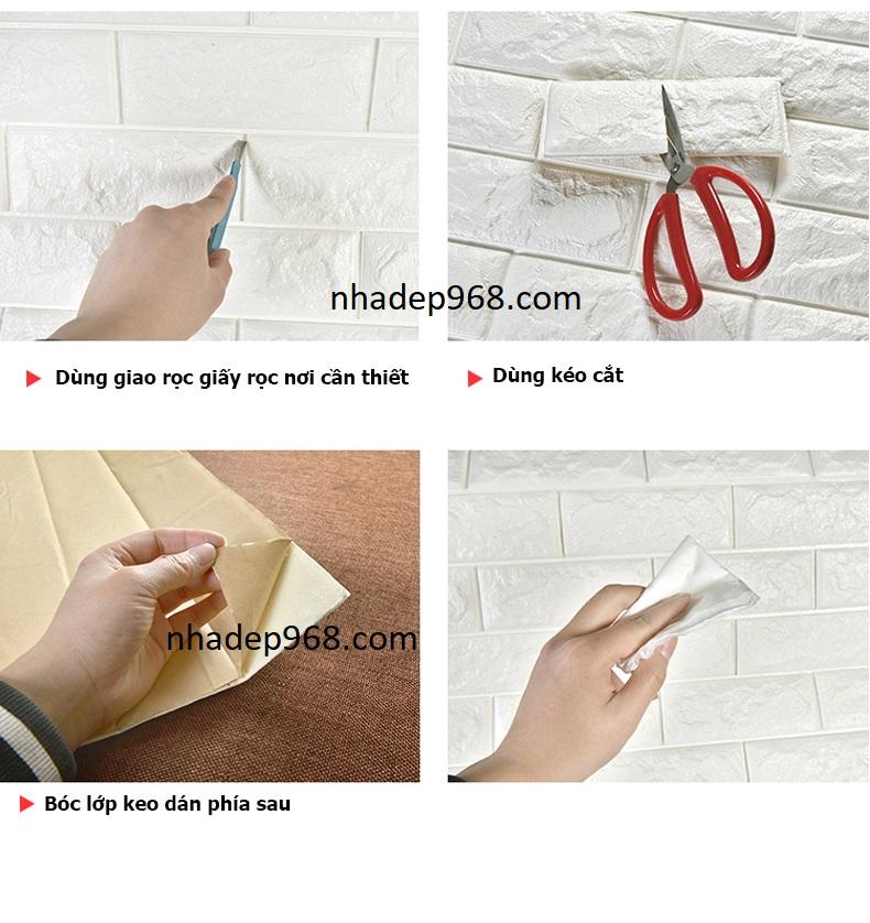 Cắt xốp dán tường
