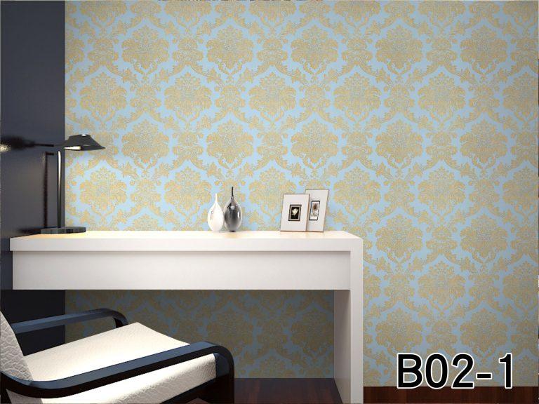 giấy dán tường phòng ngủ B021