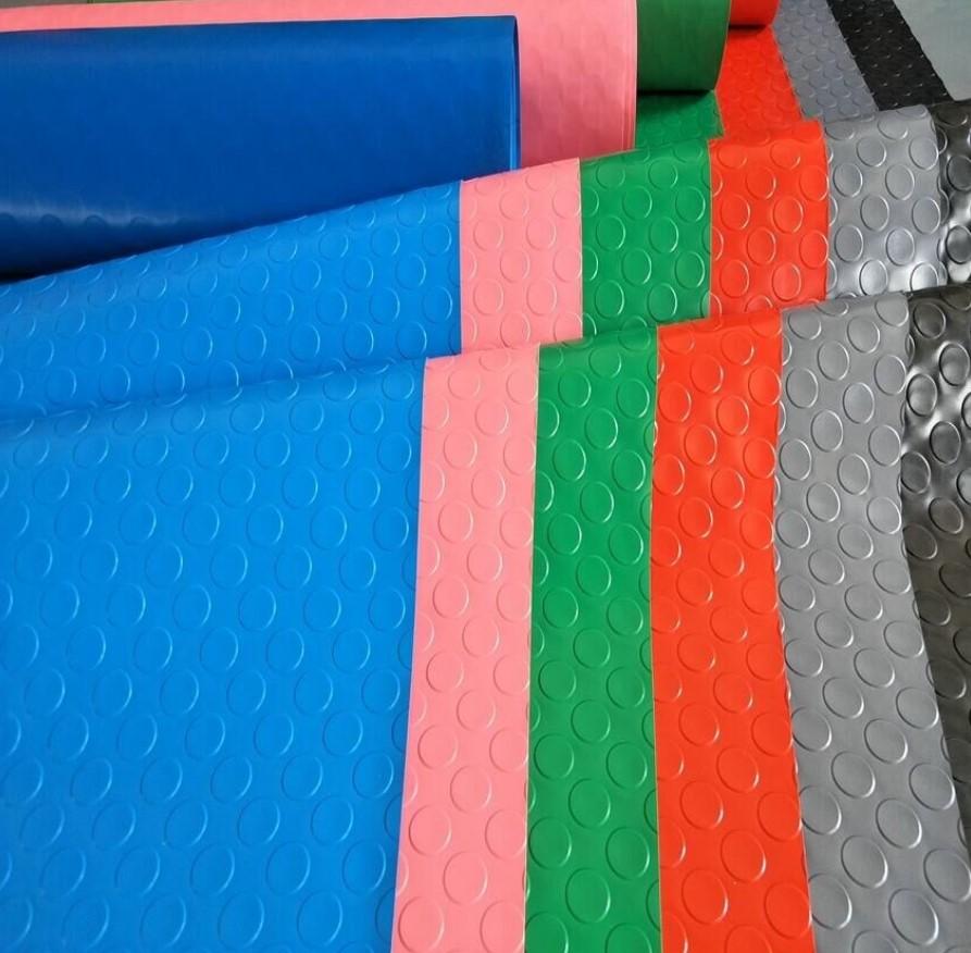 Các mầu Thảm nhựa trải sàn dạng chấm tròn