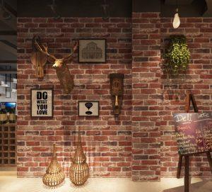 Giấy dán tường đã thi công cho quán cafe