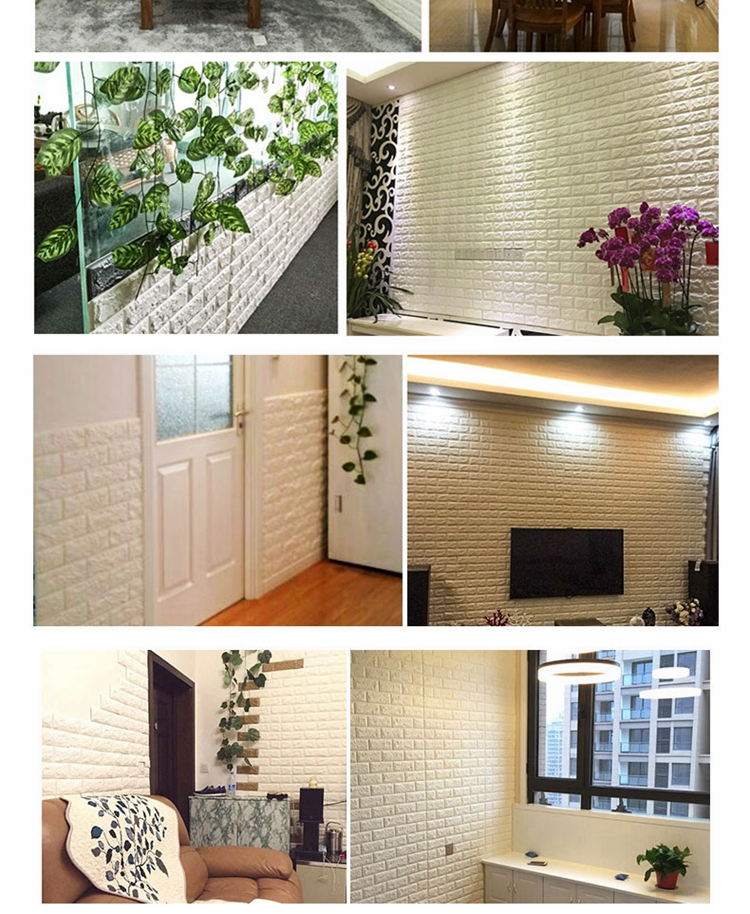 không gian nhà xử dụng xốp dán tường