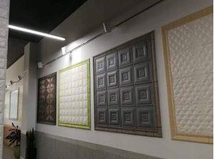 Hình ảnh khi thi công viền xốp dán tường