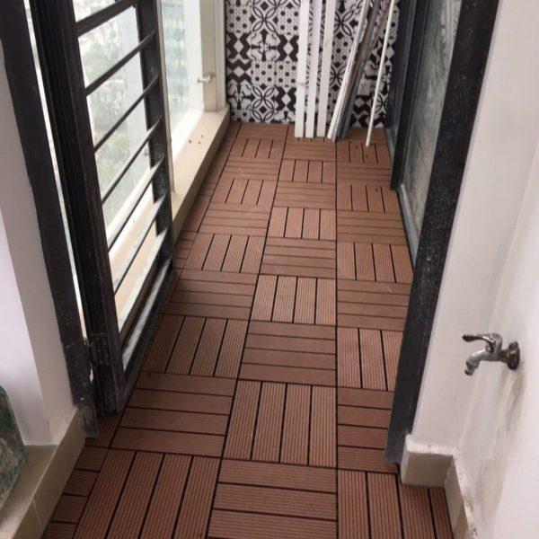 Sàn gỗ nhựa composite ghép hành lang ngoài trời