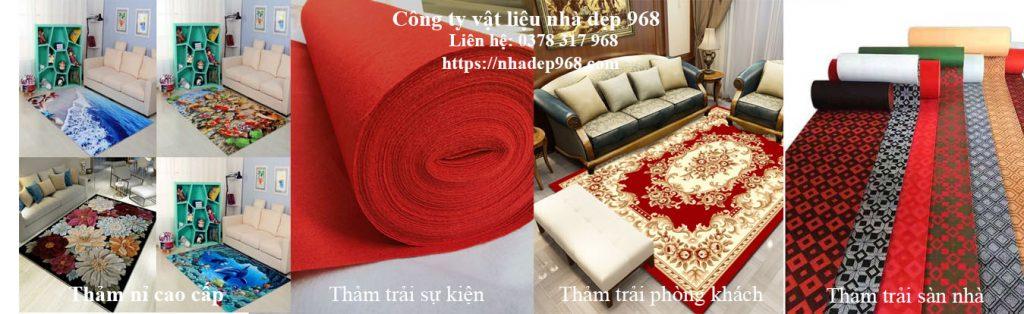 Cửa hàng bán thảm trải sàn cao cấp cho gia đình hoặc sự kiện
