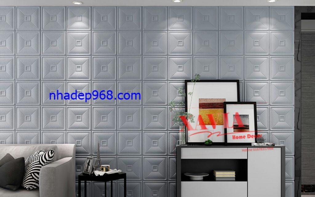 Trang trí nhà bằng xốp dán tường giả da