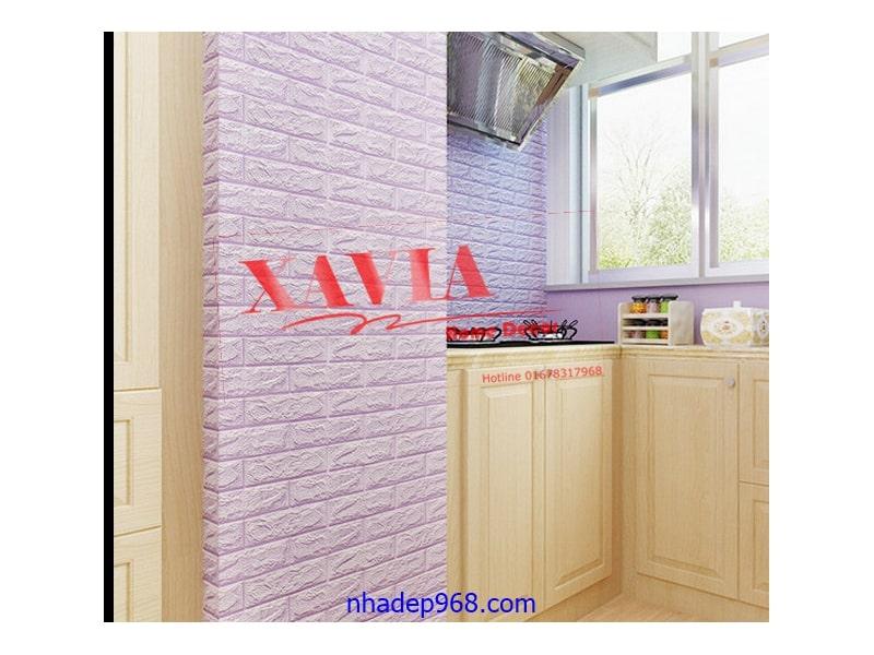 Trang trí bếp bằng xốp dán tường