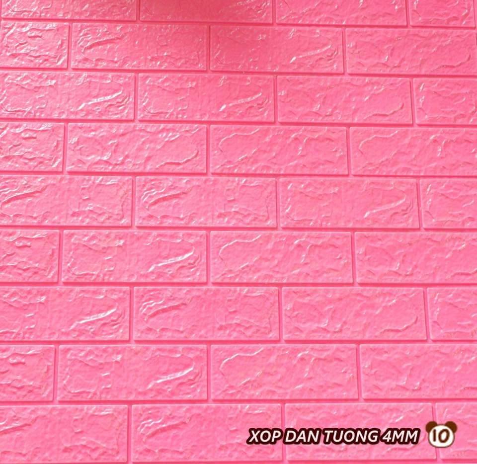 Xốp giả gạch 3d 70cmx77cm loại 4mm hồng nhạt