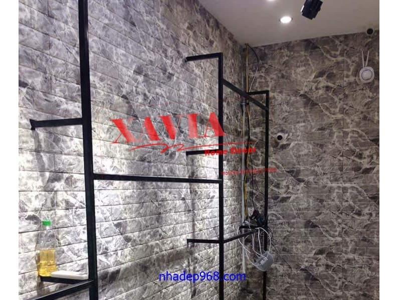 xốp dan tường vân đá cho cửa hàng