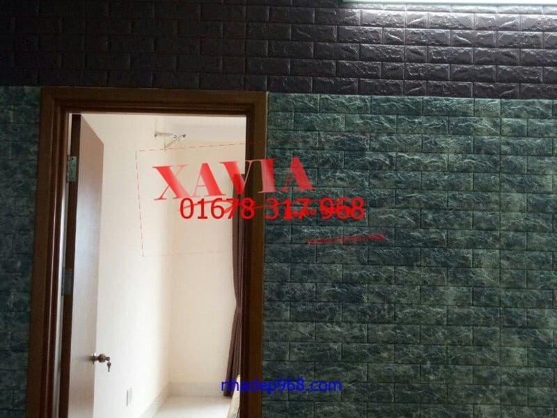 xốp dan tường vân đá cho phòng ngủ