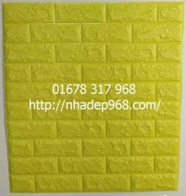 Xốp dán tường 3d cao cấp màu xanh noãn chuối