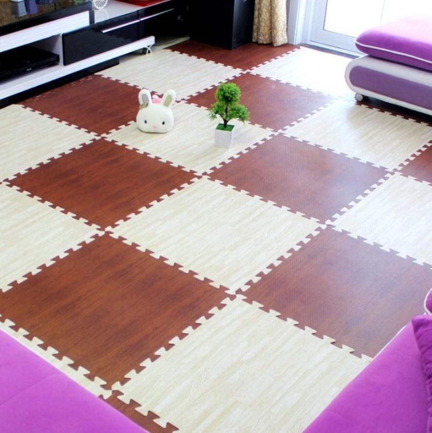 xốp ghép sàn vân gỗ kết hợp