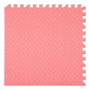 xốp ghéo sàn màu đỏ nhạt 60x60