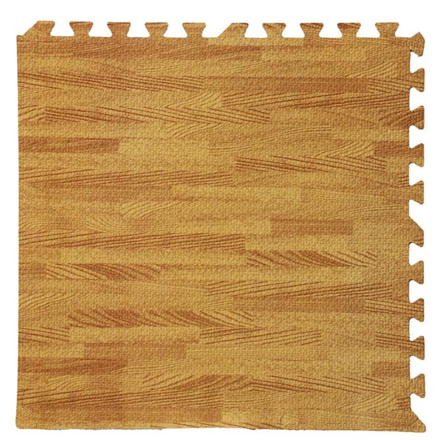 xốp dán tường vân gỗ vàng đậm